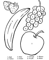 Color By Number Coloring Page Learn To Color By Following The The Coloring Pages