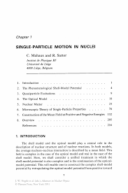 Landscaping Resume Examples Single Particle Motion In Nuclei Springer