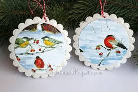 recycled cards ornaments