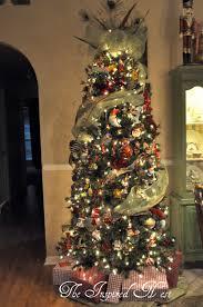 christmas tree topper deco mesh u0026 peacock feathers christmas