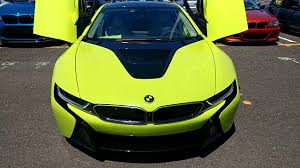 Bmw I8 Wrapped - 2016 silver bmw i8 wrapped in lime green youtube