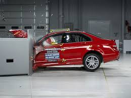 mercedes test 2012 mercedes c class driver side small overlap iihs crash