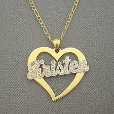 personalized photo pendant necklace gold personalized jewelry heart name pendant necklace