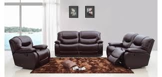 Power Reclining Sofa Set Divani Casa E9023 Reclining Sofa Set In Brown Leather