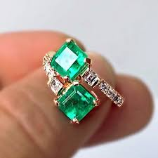 fine emerald rings images Bypass ring with natural fine 100 colombian emerald diamond jpg
