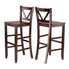 Ideas For Ladder Back Bar Stools Design Amazon Com Winsome Victor 2 Piece V Back Counter Stools 24 Inch