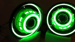 gecko green jeep jeep wrangler projector headlights gecko green led angel eyes