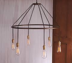 Hanging Bulb Chandelier Edison Bulb Chandelier Bare Rectangular Modern Kisa Info