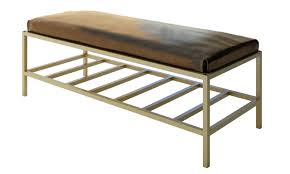 Leather Bedroom Bench Luxury Modern Bench Contemporary Style Tufted Benches Entryway