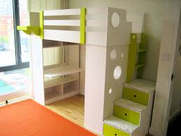 kids loft bed with desk ideal for small room home decor inspirations