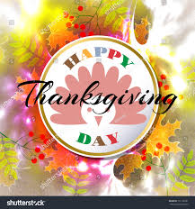 happy thanksgiving day abstract grunge background stock vector