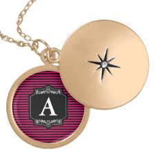 Monogram Locket Necklace Medallion Necklaces U0026 Lockets Zazzle Canada