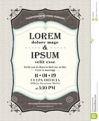 vintage wedding invitation border and frame template stock vector