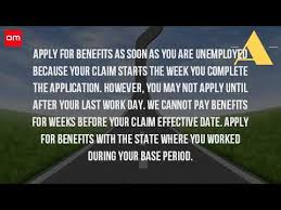 how do you claim unemployment benefit youtube
