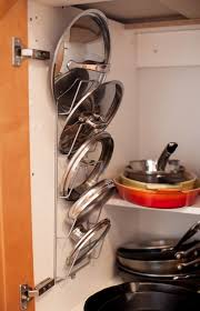 Organizing Pots And Pans In Kitchen Cabinets 9 Genius Ways To Finally Organize Pot Lids Pot Lids Hanging