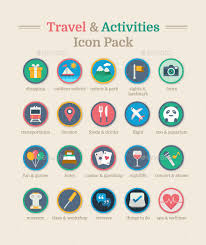 Travel activities icon pack by daijiaoking graphicriver