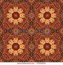 magic seamless pattern flower mandala on stock illustration