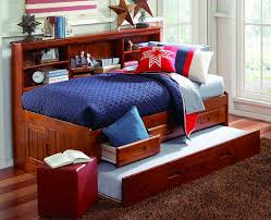 duncan twin size big bookcase storage bed