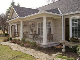 ranch home plans with front porch peak added to a front porch columns decorating