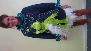 grinch light up tacky ugly christmas sweater dress for sale youtube