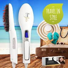 Vanity Hair Cork Amazon Com Femjolie Hair Straightening Brush Best For Beauty