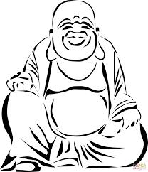 Laughing Buddha Coloring Page Free Printable Coloring Pages Buddhist Coloring Pages