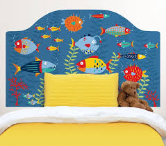 Headboard Wall Sticker by Fish Tales Twin Headboard Wall Decal Rosenberryrooms Com