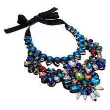 chunky necklace charms images New fashion charm chain multi color glass crystal chunky statement jpg