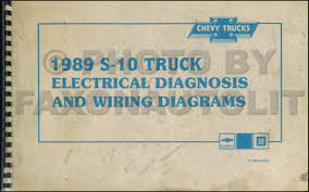 1989 chevy s 10 pickup u0026 blazer wiring diagram manual original