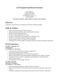 technical resume exles civil engineer resume exle resume sles