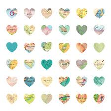 heart wrapping paper map hearts luxury gift wrapping paper by bombus
