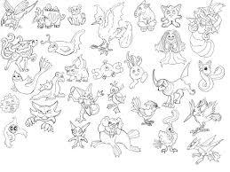 pokemon lineart lemurkat deviantart