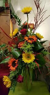 autumn flowers autumn flowers beautiful fall arrangment of yellow and orange