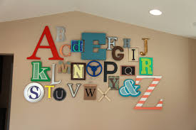 Letter Decoration Ideas by Wall Art Design Ideas Playroom Decorations Alphabet Wall Art
