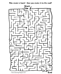 coloring page mesmerizing maze game printable hard coloring page