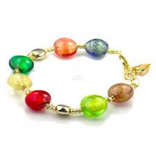 bracelet murano glass images Antica murrina veneziana agnese murano glass floral bead elastic jpg