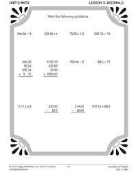 a dot to remember u2013 printable 6th grade decimal worksheets u2013 math