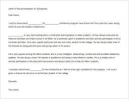 doc 409425 scholarship recommendation letter u2013 sample