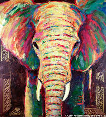 abstract elephant painting i wish i could get something like this for jheri ross