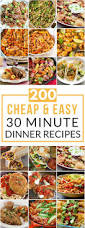 Cheap And Quick Dinner Ideas 200 Cheap U0026 Easy 30 Minute Meals Meals Dinners And Food
