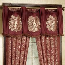 palatial swag valance and window treatments