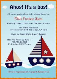 baby shower invitation template nautical sailboat baby boy baby