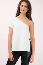 Shoulder Top - one shoulder tops sleeve one shoulder blouses one sleeve