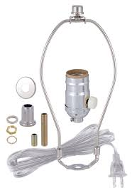 nickel table lamp wiring kit with full range dimmer socket