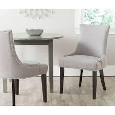 nailhead trim dining chairs safavieh becca grey zebra cotton linen dining chair mcr4502n the