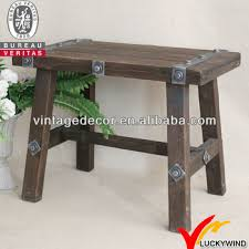 luckywind small industrial wooden bench view industrial bench