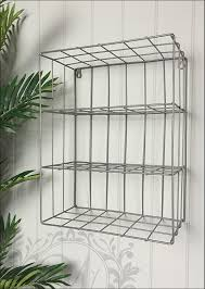 Metal Wire Storage Shelves Three Shelf Industrial Style Metal Wire Wall Storage Amazon Co Uk
