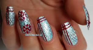 christmas nail art tutorial stamping youtube