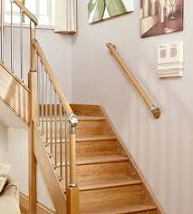 chrome banister rails contemporary wall handrail kits in various woods chrome or
