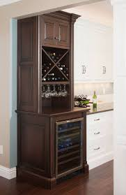 Glass Door Bar Fridge For Sale by Furniture Brown Stained Wood Small Fridge Cabinet With Glass